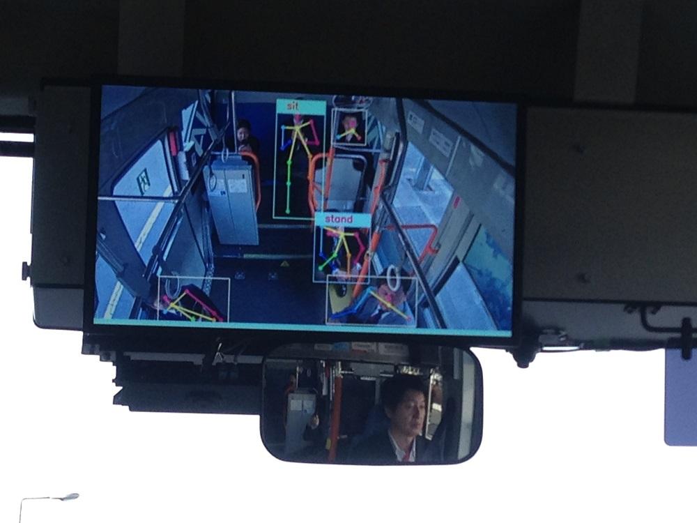 乗客の状態を検知する画像